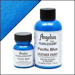 Angelus Pearlescent Pacific Blauw Leerverf
