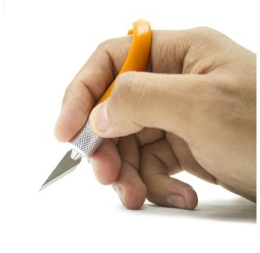 Fiskar Fingertip mes Oranje
