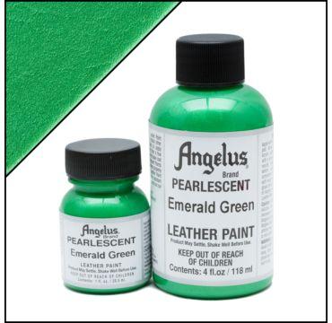 Angelus Pearlescent Emerald Groen Leerverf